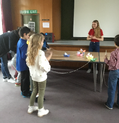 Children at Henry VIII workshop