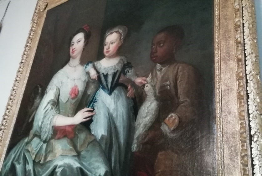 Painting with a black pageboy from Ham House