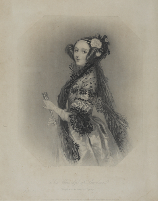 Print of Ada Lovelace, 19th Century, W.H. Mote after A.E. Chalon.