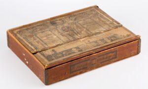 Two layered box of Anchor stone bricks, 1898.