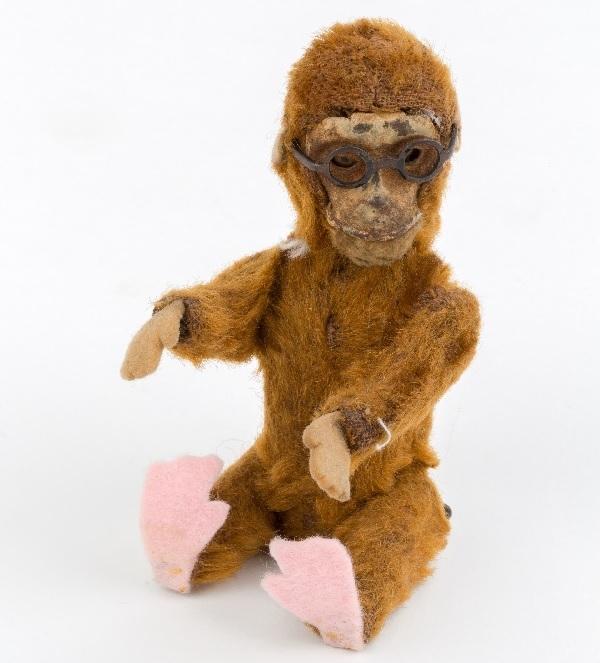Stuffed 'Montgomery the Monkey' toy, 1920.