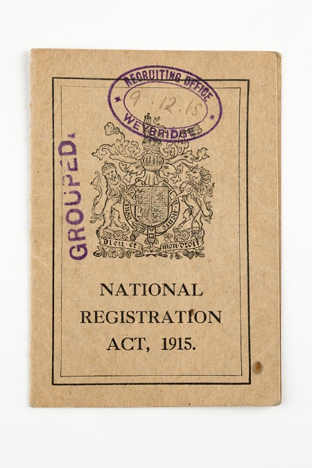 National Registration Act Card