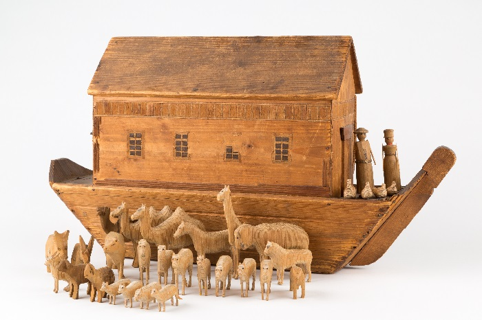Noah's Ark and Animals wooden toy, c.1910.