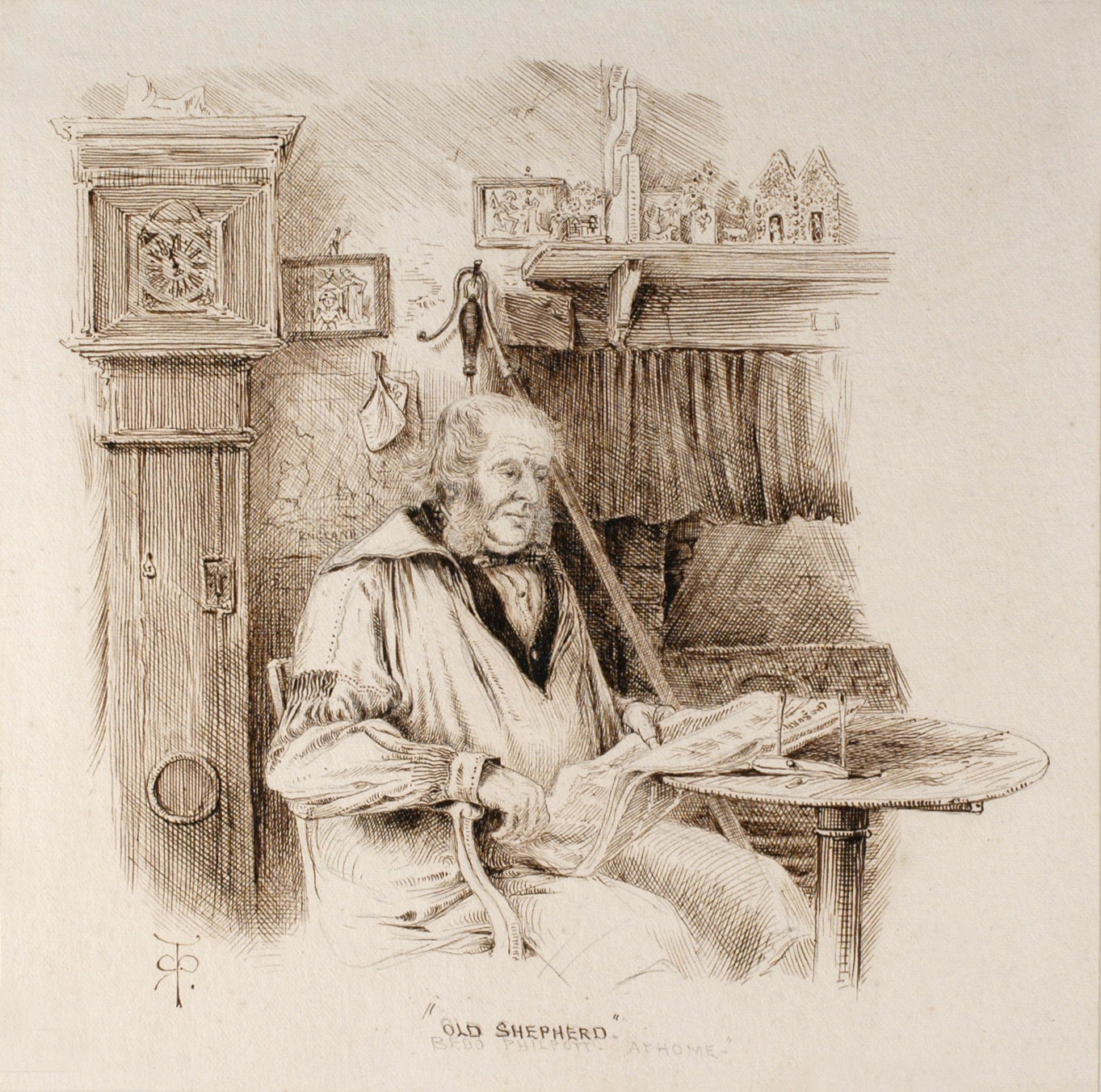 Old Shepherd by Robert Taylor Pritchett