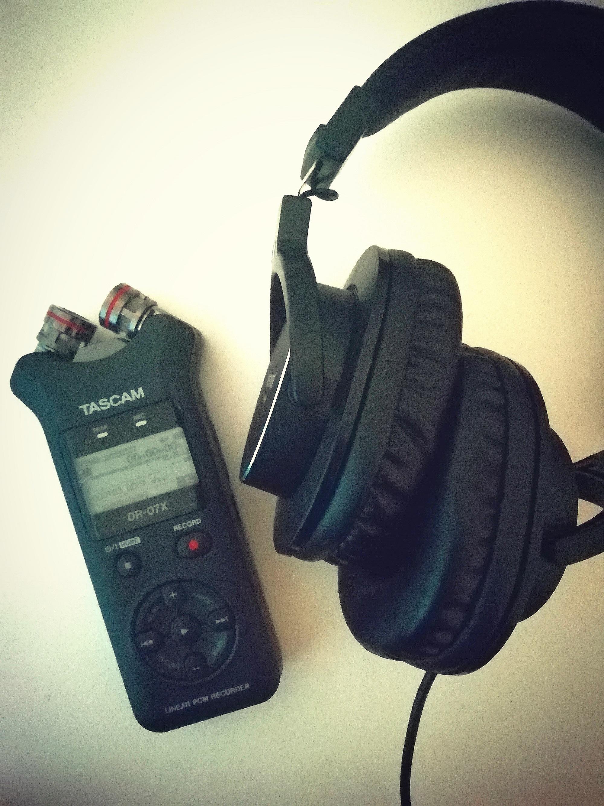 'Memories of War' oral history recording equipment.