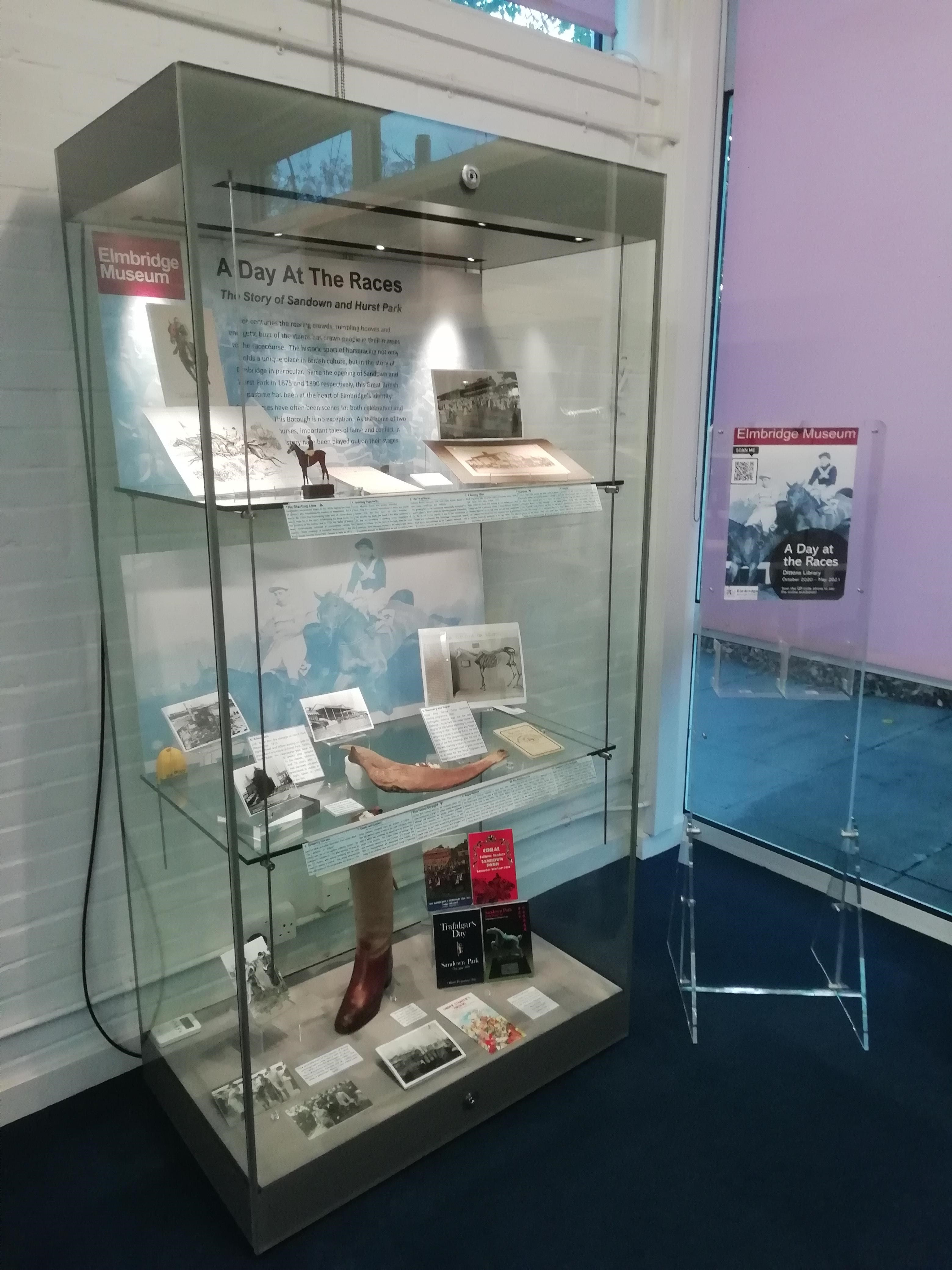 'A Day at the Races' exhibition in the Dittons Library computer room.