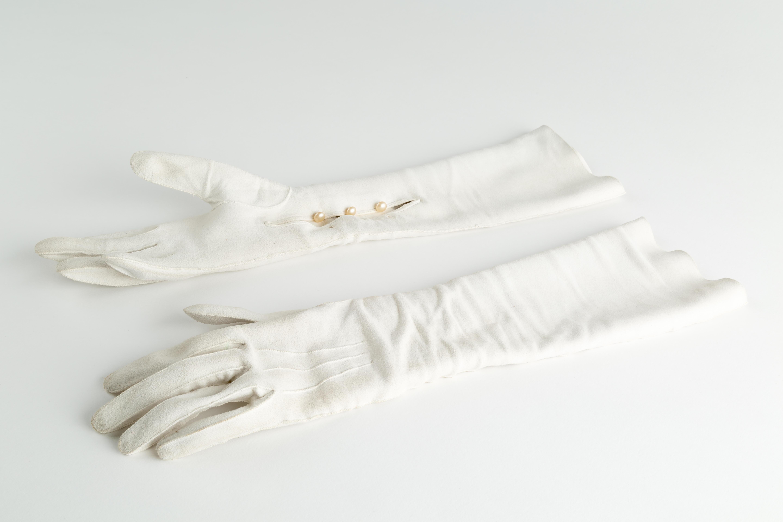 White Suede Gloves