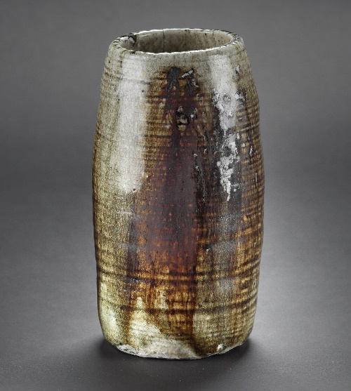 Tall jar created by Denise Wren, 1960s.