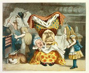 Sir John Tenniel's illustration for Lewis Carroll's 'The Nursery Alice', 1890. Copyright British Library.