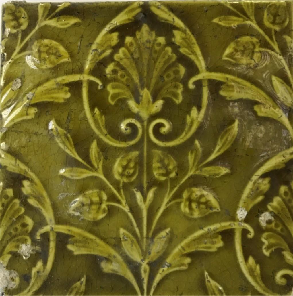 Green embossed tile from Sainsbury's Weybridge.