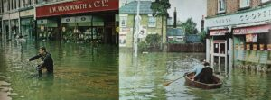 The 1968 floods in Molesey. Contributed by the Molesey Local History Society.