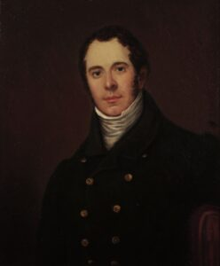 Oil on Canvas portrait of Robert Gill, c.1831, by William Bradley.