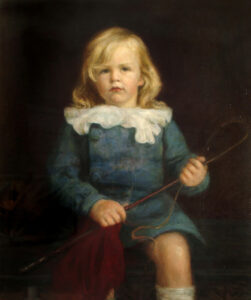 Oil on canvas portrait of Robert John Brooke Gill, by Lance Outram c.1913.