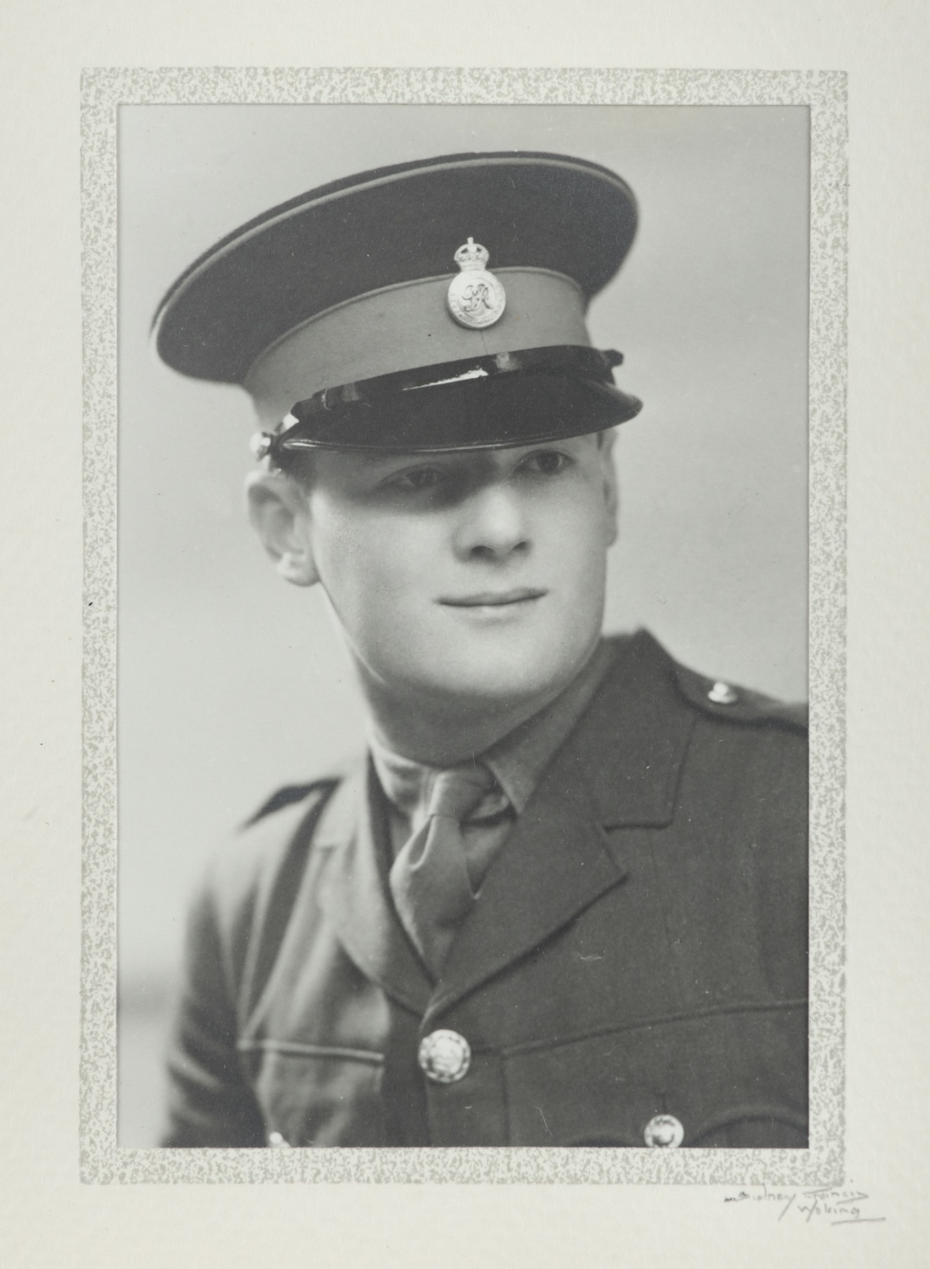 Photograph of Major Peter Killick in his uniform, c.1939-44, artist unknown.