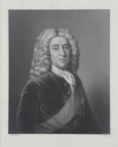 Print of Thomas Holles-Pelham, Duke of Newcastle, c. mid-1700s. Artist unknown.