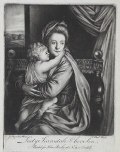 Print of Caroline Colyear, Lady Scarsdale, c.mid-1700s.