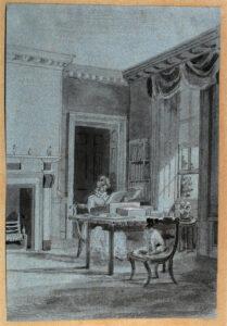 Sketch, 19th Century, My Little Room by Lady Mary Elizabeth Bennett.
