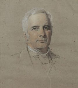 Pastel portrait of 'The Hon. Peter Locke King M.P.', by H.T. Wells c.1878.