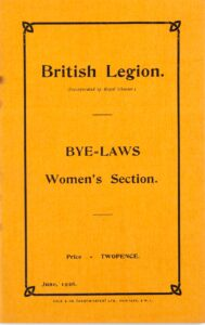 Booklet of Bye-Laws for the British Legion, Women's Section, 1926.
