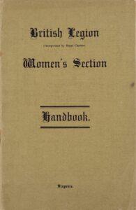Handbook for the British Legion Women's Section