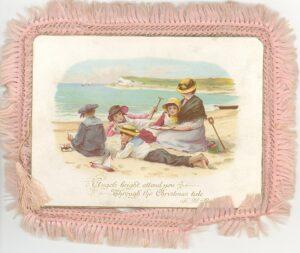 Victorian postcard showing a seaside scene