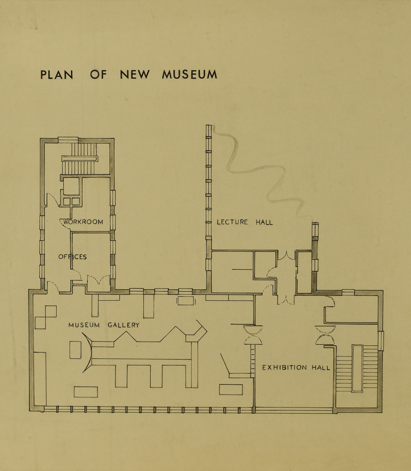 Plan of the new Weybridge Museum above Weybridge Library, Church Street, 1966