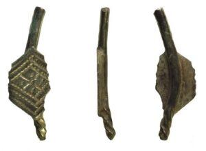 13th-14th century medieval brooch fragment, donated by the Portable Antiquities Scheme in 2019.