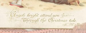 Image showing H.M. Burnside's verse on the card, which reads